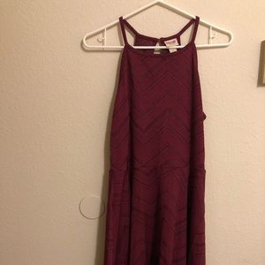 Purple strappy racer back dress from target